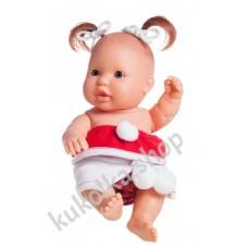 Куколка-пупс в новогоднем наряде, Грета, 22 см