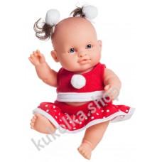 Куколка-пупс в новогоднем наряде, Ирина, 22 см,