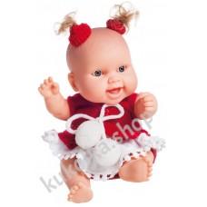 Куколка-пупс в новогоднем наряде, Люсия, 22 см