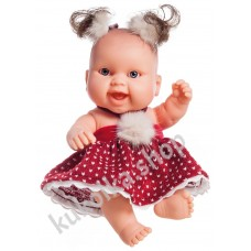 Куколка-пупс в новогоднем наряде, Берта, 22 см