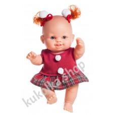 Куколка-пупс в новогоднем наряде, Сара, 22 см