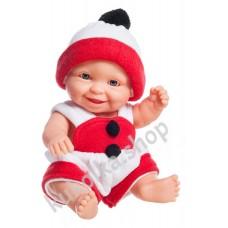 Куколка-пупс в новогоднем наряде, Тео, 22 см