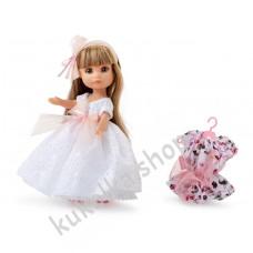 Куколка ЛЮСИ, блондинка в белом платье, 21 см