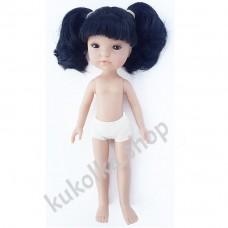 Куколка ГРЕТТА С 2 ЧЕРНЫМИ ХВОСТИКАМИ И ЧЕЛКОЙ, 34 см