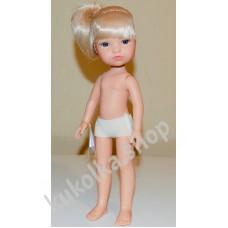 Куколка ГРЕТТА БЛОНДИНКА С ХВОСТИКОМ И ЧЕЛКОЙ, 34 см