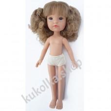 Куколка ГРЕТТА С ДЛИННЫМИ РУСЫМИ КУЧЕРЯШКАМИ И ЧЕЛКОЙ, 34 см
