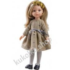 Куколка КАРЛА В КОРИЧНЕВОМ ПЛАТЬЕ, 34 см