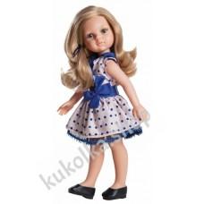 Куколка КАРЛА В ПЛАТЬЕ В СИНИЙ ГОРОШЕК, 32 см