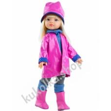 Куколка МАНИКА В РОЗОВОМ ПАЛЬТО, 34 см