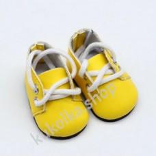 Ботинки для куколок 32-34 см, жёлтые