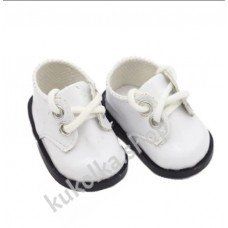 Ботинки лакированные для куколок 32-34 см, белые