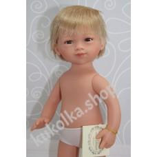 Куколка МАРКО БЛОНДИН С КОРОТКИМИ ВОЛОСАМИ И ЧЕЛКОЙ, 35 см