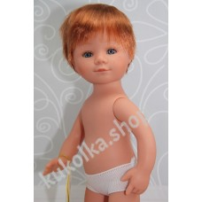 Куколка МАРИО РЫЖИК С КОРОТКИМИ ВОЛОСАМИ И ЧЕЛКОЙ, 35 см