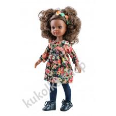 Куколка Нора в цветочном платье, 32 см