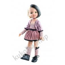 Куколка Лиу в черно-розовом наряде, 32 см