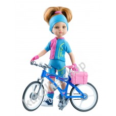 Куколка Даша велосипедистка, 32 см