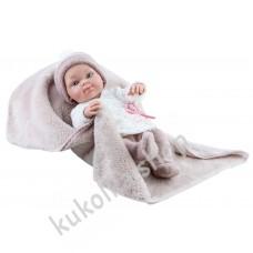 Куколка Бэби с коричневым одеялком, мальчик, 32 см