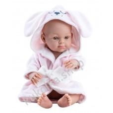 Куколка Бэби в розовом банном халате, девочка, 32 см