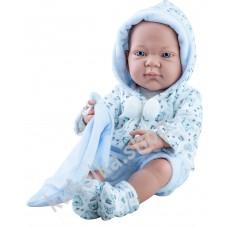 Куколка Бэби с голубым слюнявчиком, мальчик, 36 см