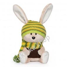 Заяц Антоша в шапочке и свитере, мягкая игрушка Budi Basa лЕсята, 15 см