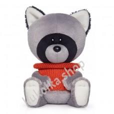 Енот Лёка в свитере, мягкая игрушка Budi Basa лЕсята, 15 см