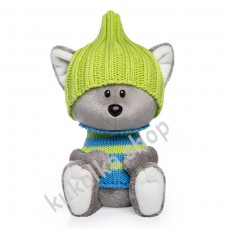 Волчонок Вока в шапочке и свитере, мягкая игрушка Budi Basa лЕсята, 15 см