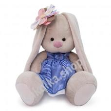 Зайка Ми с полосатым цветком мягкая игрушка Budi Basa, 18 см.