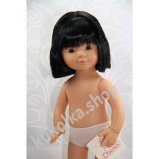 Куколка МАРИЕТТА ЯПОНКА С ЧЕРНЫМИ ВОЛОСАМИ И ЧЕЛКОЙ, 35 см