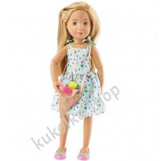 Куколка ВЕРА В САРАФАНЕ И С СУМОЧКОЙ-МОРОЖЕНЫМ (Kruselings), 23 см